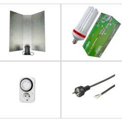 Kit luce CFL Agro 200W - Crescita e Fioritura-0